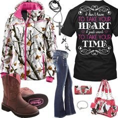 Take Your Time Snow Camo Outfit - Real Country Ladies