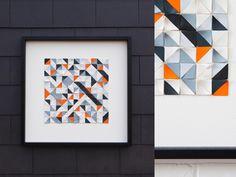 Geometry - Porcelain Wall Art Geometry, Porcelain, Wall Art, Frame, Home Decor, Room Decor, Porcelain Ceramics, Frames, A Frame