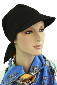 23.50 - Black Brimmed Hat -   hatsforyou.net  cancer  chemo  alopecia. Chemo  Hair LossHat ... 683f7ff0c0f