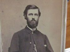 105th Ohio Infantry Civil War soldier in New Albany Indiana cdv photograph