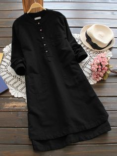 Vintage Casual Shirts And Mexican Blouses For Women Mobile Robes Vintage, Vintage Style Dresses, Vintage Shirts, Casual Dresses, Casual Outfits, Vintage Outfits, Vintage Buttons, Mini Dresses, Casual Shirts
