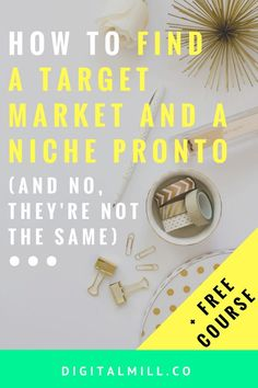 Want to turn your blog into a business? The first thing you need to do is find a target market and find a niche (no, they're not the same!). Read the post now (includes a FREE 6-DAY COURSE on the exact steps you need to take to find a niche unique to your business). GET STARTED FOR FREE >>