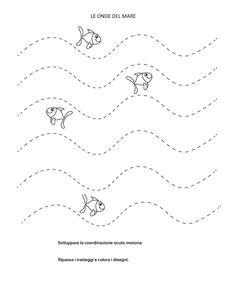 La maestra Linda : Estate -schede da colorare- Preschool Craft Activities, Preschool Writing, Preschool Learning Activities, Preschool Education, Preschool Worksheets, Pre Writing, Writing Skills, Grade R Worksheets, Daycare Lesson Plans