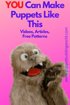 Step-by-step tutorials guide you through the entire process. From creating a pattern to constructing the head and body to covering with fur or fleece and adding features.  #freepuppetpatterns #puppetbuildingDIY Full Body Puppets, Human Puppet, Ventriloquist Puppets, Professional Puppets, Puppet Patterns, Egg Carton Crafts, Sock Puppets, Puppet Making, Dragon Crafts