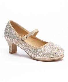 Adorababy Champagne Sparkle Dressy Mary Jane | zulily