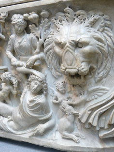 Marble sarcophagus depicting the myth of Selene and Endymion Roman Severan period early century CE Metropolitan Museum, Art Museum, Marble, Lion Sculpture, Statue, History, Iris, Period, York