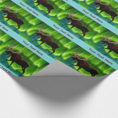 Northern Lights Moose Wrapping Paper - click/tap any to personalize and buy  http://www.kdl.to/curated-collection.html?qs=&rf=238693525498543835&dp=&cg=&ps=15&pg=1&st=popularity&sd=desc&pm=&bg=ffffff&storeid=bluestar48&tc=nft_ss&title=#.WAP3bnMivK4.email