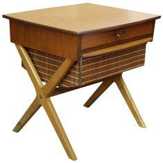 Danish Modern Teak Sewing Table   1stdibs.com