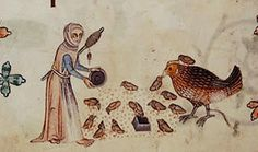 Feeding the Chicks. margin. Luttrell Psalter. England 14th cent. BL page19   Flickr - Photo Sharing!