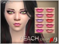 tsminh_3's Peach Color Lipstick | Sims 4 Updates -♦- Sims Finds & Sims Must Haves -♦- Free Sims Downloads