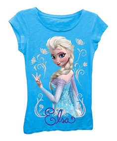 Look what I found on #zulily! Turquoise Frozen 'Elsa' Tee - Girls by Frozen #zulilyfinds