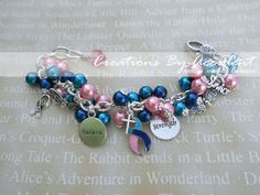 Thyroid Cancer Survivor Awareness Bracelet - Hopefully I'll be able to wear this one day.