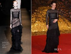 Evangeline Lilly In Alberta Ferretti – 'The Hobbit: The Desolation Of Smaug' Berlin Premiere