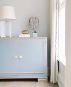 "Lillian August on Instagram: ""We can't get enough of this pretty vignette by @katemarkerinteriors featuring our cabinet in this sweet custom color 😍. . . . . . . . . .…"""