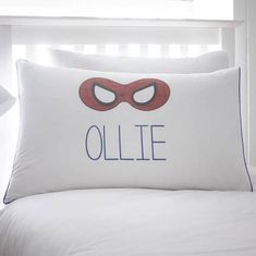 Our beautifully personalised childrens pillowcases are the perfect addition to any bedroom and will make a lovely gift for both girls and boys. Spider, Bed Pillows, Pillow Cases, Unique Gifts, Anniversary, Superhero, Bedroom, Home, Pillows