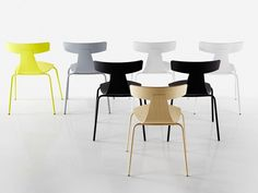 Stackable plywood chair REMO METAL Remo Collection by Plank | design Konstantin Grcic