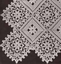 3d illusion afghan block pattern | Vntg Crochet MOTIF BLOCK Lace Flower Bedspread Pattern