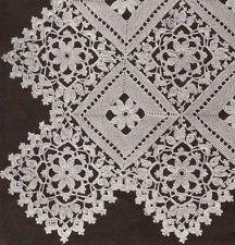 3d illusion afghan block pattern | Vntg Crochet MOTIF BLOCK Lace Flower Bedspread Pattern