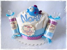Gâteau de couches pour petit baigneur à offrir dès la naissance