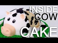 How-To Make A COW CAKE with a INSIDE Cow Pattern! - YouTube