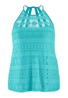 plus size lace tank with halter neck