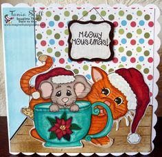 "****Manx Made**** awesome Christmas card using ""Meowy Mousemas"" from Imagine That! Digis by Kris™"