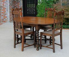Antique Tiger Oak Dining Chair Dinning Room Oak Dining