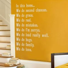 For the Family Room- cute quote