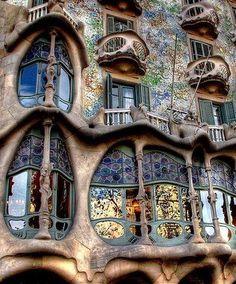 amazing archictecture in Spain. read about it here http://www.casabatllo.es/en/history/casa-batllo/