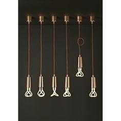 Suspension Plumen + Ampoule original 001 - Light N Design