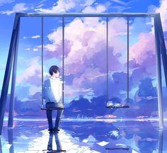 No photo description available. Sad Anime, Anime Love, Anime Manga, Anime Guys, Anime Art, Animation, Boy Art, Anime Scenery, Anime Style
