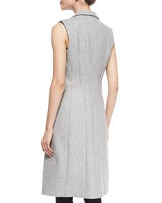 TAAAS Rag & Bone Faye Wool-Blend Long Vest, Gray