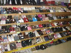 Secção de sapatos.