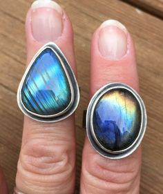 Labradorite Ring, Silver Gemstone Jewelry, Oval Ring, Statement Ring, Handmade Ring, Stone Ring, Artisian Jewelry by SterlingbyBranigan on Etsy