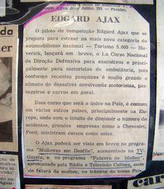 SÓ PARA LEMBRAR - Edgard Ájax - Curso de D.D. para motoristas de ambulância e executivos - www.ajax-pucci.blogspot.com - #direçãodefensivamotoristasdeambulância - #dirijamelhorcomedgardájax -