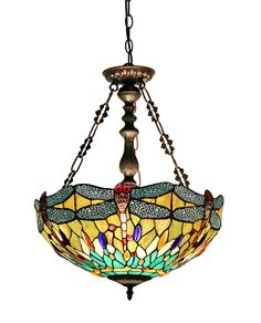 Chloe Lighting CH33471BD18-UH2 Empress Tiffany-Style Dragonfly 2-Light Inverted Ceiling Pendant with Fixture, 18-Inch Shade, Pendant Lights - Amazon Canada