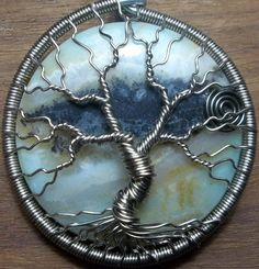 Wire Wrapped Amazonite Tree if Life by alexart on Etsy, $40.00