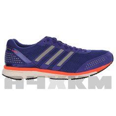 finest selection 0f775 55881 Zapatillas voladoras para asfalto Adidas Adizero Adios Boost 2 en colores  morado y coral para hombre