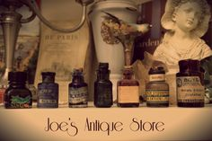 Old French ink bottles https://www.facebook.com/Joe.antique.store