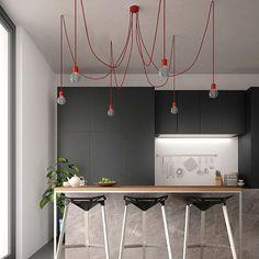 Ceramic Pendant Cluster Chandelier Light Swag Vintage Ceiling Lighting Hanging…