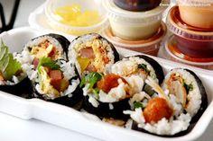 Bappul, LA. Kimbap!  Make spam and egg kimbap!