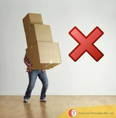 Beware, while #shifting do not lift more than one box at a time to ensure better safety.