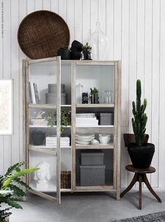 IKEA hack björknäs vitrinskåp