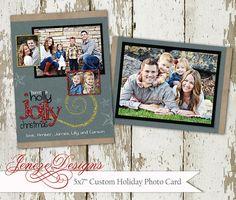 Glitter Holiday Card by Jeneze on Etsy, #holidaycard , #christmascard