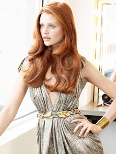 Long Auburn Hair