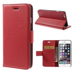 Köp Plånboksfodral Apple iPhone 6/6S röd online: http://www.phonelife.se/planboksfodral-apple-iphone-6-6s-rod