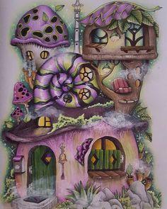 Nice Little Town 4 by Tanya Bogema #adultcolouringbook #adultcoloring #colouring #colouringforadults #nicelittletown4