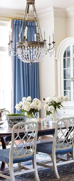 Blue Dining Room Ideas | Suzanne Kasler Interior Design