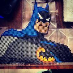 Batman The Dark Knight perler pixel art by herrchild