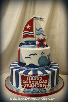 nautical cake: Dont know if I will ever make this one, but I love it!!